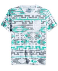 American Rag Men's Southwest Graphic Print Pocket T Shirt Only At Macy's Pale Waters