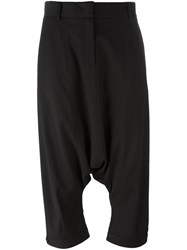 Antonio Marras Pinstripe Harem Trousers Black