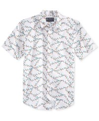 American Rag Men's Graphic Print Shirt Only At Macy's Bright White