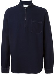 Our Legacy Shawl Zip Neck Shirt Blue