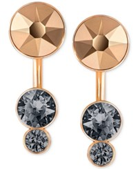 Swarovski Multi Crystal Earring Jackets Rose Gold