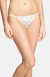 Women's Betsey Johnson 'Starlet' Lace Thong Pearl
