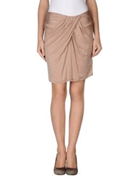 Liu Jo Knee Length Skirts Light Brown
