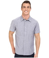 Black Diamond Short Sleeve Chambray Modernist Shirt Indigo Men's Short Sleeve Button Up Blue