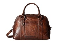 Frye Melissa Domed Satchel Dark Brown Satchel Handbags