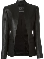 Unconditional Fitted Open Jacket Black