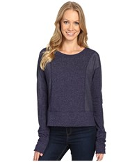Mountain Hardwear Shadow Knit Crew Long Sleeve Shirt Indigo Blue Women's Clothing