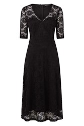Sugarhill Boutique Imelda Flared Lace Dress Black