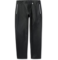 Christopher Kane Slim Fit Reflective Trimmed Cotton Blend Trousers Black