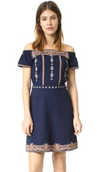 Tory Burch Nell Embellished Dress Royal Navy