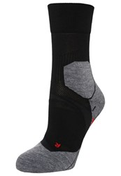 Falke Ru4 Cushion Sports Socks Black Grey
