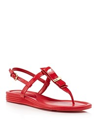 Cole Haan Marnie T Strap Sandals Red
