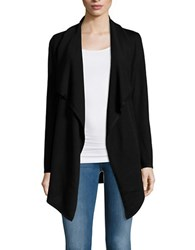 Lord And Taylor Merino Wool Flyaway Cardigan Black