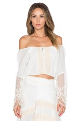 Spell And The Gypsy Collective Peasant Girl Crop Top White