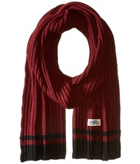 Original Penguin Chunky Knit Scarf Beet Red Scarves
