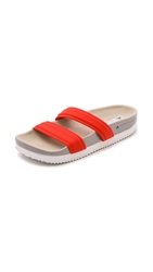 Adidas By Stella Mccartney Slide Sandals Bolt Red Pearl Grey Shel Beige