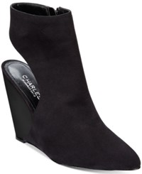 Charles By Charles David India Slingback Wedge Booties Women's Shoes Black