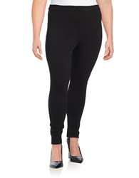 Lord And Taylor Plus Ponte Leggings Black