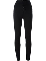 J Brand Buttoned Skinny Jeans Black