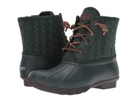 Sperry Saltwater Rope Emboss Neoprene Green Women's Lace Up Boots