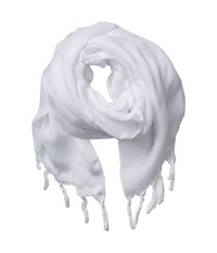 Love Quotes Linen Tassel Scarf Yoga Scarves White