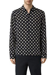 Allsaints Inkblot Long Sleeve Shirt Ink Navy