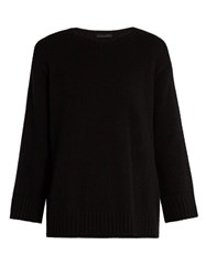 The Row Niola Cashmere And Silk Blend Sweater Black