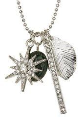 Stephan And Co Assorted Charm And Natural Stone Necklace Black