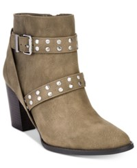 Styleandco. Style Co. Betzie Buckle Booties Only At Macy's Women's Shoes Sage Green