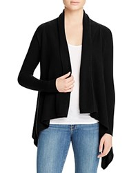 Bloomingdale's C By Basic Open Cashmere Cardigan Black