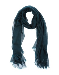 Destin Oblong Scarves Dark Green