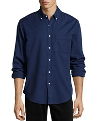 Ag Adriano Goldschmied Long Sleeve Button Front Shirt Spring Indigo