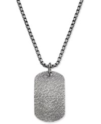 Steve Madden Men's Stainless Steel Dog Tag Pendant Chain Silver