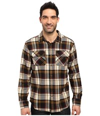 Prana Lybeck L S Flannel Black Men's Long Sleeve Button Up