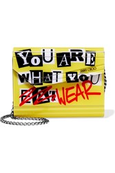 Jimmy Choo Candy Printed Acrylic Clutch Yellow