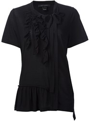 Marc Jacobs Ruffled Tied Neck Blouse Black