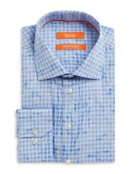 Tallia Orange Patterned Dress Shirt Blue