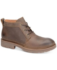Born Men's Melick Plain Toe Boots Men's Shoes Dark Brown