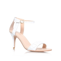 Carvela Kollude Mid Heel Sandals White