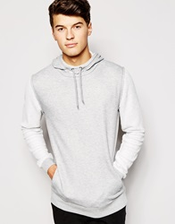 Asos Hoodie With Funnel Neck Grey