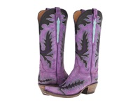 Lucchese L4729 Destroyed Purple Goat Cowboy Boots