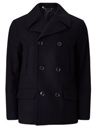 John Lewis Kin By Wool Blend Pea Coat Navy