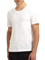 Blk Dnm Crewneck Cotton Tee White Black