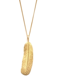 Wouters And Hendrix Gold Long 'Feather' Necklace