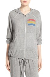 Women's Lauren Moshi 'Cricket' Graphic Zip Hoodie