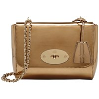 Mulberry Lily Mirror Metallic Leather Bag Gold