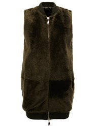 Drome Zipped Vest Green