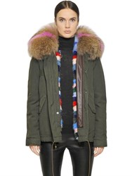 Mrandmrs Italy Cotton Canvas Parka With Mink Fur