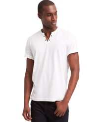Kenneth Cole Reaction Eyelet T Shirt White
