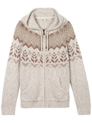 Fat Face Alice Textured Hoodie Ivory